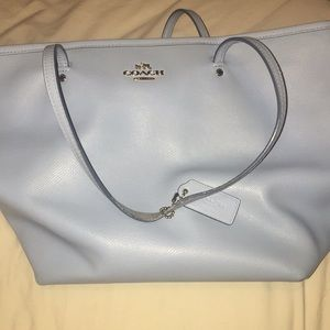 Authentic baby blue coach tote